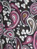 100% Viscose Light Weight Sheer Fabric- Cocktail Paisley Pink PVSC173 BKPN