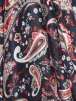 100% Viscose Light Weight Sheer Fabric- Cocktail Paisley Red PVSC174 NYRD