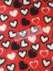 Polar Fleece Anti Pill Washable Soft Fabric- Red/Black Hearts SQ228 RDBK