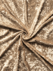 Crushed Glitz Velour/Velvet Woven Interior Fabric- Cappuccino SQ269 CPO