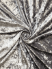 Crushed Glitz Velour/Velvet Woven Interior Fabric- Elephant Grey SQ269 EGR