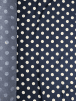 20 METRES Cotton Fabric Material Job Lot Bolt- Denim Polka Dots JBL78 DNM