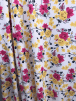 Smooth Touch Woven Blouse/Dress Fabric- Yellow/Pink Summer Flowers SMT24 IVMLT
