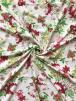 Smooth Touch Woven Blouse/Dress Fabric- English Flower Garden SMT25 IVMLT