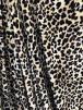 Plush Velour Animal Print Velvet Soft Fabric- Classic Leopard Cream/Brown SQ275 CRMBR