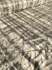 20 METRES Lycra Check Embossed 4 Way Stretch Fabric Job Lot Bolt- Cream/Black JBL90 CRMBK