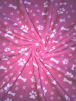 Polar Fleece Anti Pill Washable Soft Fabric- Pose & Paws Pink SQ288 PN