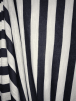 100% Viscose Stretch Fabric Material- Vertical Stripe Navy/Ivory SQ289 NYIV