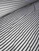 20 METRES Clearance 100% Viscose Stretch Fabric Job Lot Bolt- Horizontal Stripe Black/White JBL129 BKWHT
