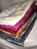 10 PIECES Clearance (1/2 Metre+) Crushed Velvet/Velour Stretch Material Job Lot Pieces- Multi JBL148
