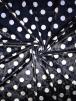 NEW Marble Printed Velvet/Velour Stretch Fabric- Polka Dots Navy/White SQ315 NYWHT