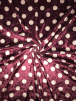 NEW Marble Printed Velvet/Velour Stretch Fabric- Polka Dots Wine/White SQ315 WNWHT
