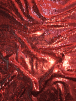 Magical Mermaid Reversible Sequins Stretch Fabric All Over Stitched Heavy- Red SEQ68 RD