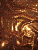 Magical Mermaid Reversible Sequins Stretch Fabric All Over Stitched Heavy- Orange SEQ68 OR