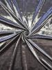 Crushed (Satin Look) Glitz Velour/Velvet Woven Interior Fabric- Metal Grey SQ269 MTGR