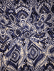 Soft Touch 4 Way Stretch Lycra Fabric- Tanzanite Blue Paisley SQ326 BLMLT