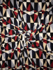 Viscose Cotton Stretch Lycra Fabric- Geo Triangles SQ328 MLT