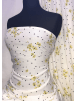 100% Viscose Light Weight Woven Material- Polka Dot Buttercups SQ333 IVYLBK