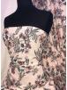 Georgette Crepe Soft Touch Sheer Fabric- Feminine Florals SQ338 PNMLT