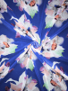 Chiffon Soft Touch Sheer Fabric- Floral Paradise SQ339 BL