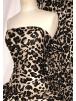 Viscose Cotton Stretch Lycra Fabric- Mocha Leopard SQ340 BKMCH