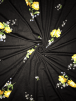 Viscose Cotton Stretch Lycra Fabric- Black/Yellow Floral SQ341 BKYL