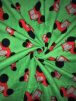 Polar Fleece Anti Pill Washable Soft Fabric- Tractors Green/Red SQ344 GRNRD