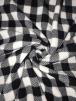 Polar Fleece Anti Pill Washable Soft Fabric- Black/White Tartan SQ347 BKWHT