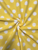 Polar Fleece Anti Pill Washable Soft Fabric- Giant Polka Dots (Yellow) SQ356 YLWHT