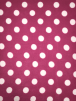 Polar Fleece Anti Pill Washable Soft Fabric- Giant Polka Dots (Cerise Pink) SQ356 CRSWHT
