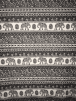 Viscose Elastine Stretch Fabric- Elephant Aztec SQ359 BKIV