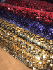 12 PIECES Clearance (1/2 Metre) Assorted Coloured Sequin Elastane Offcuts Job Lot Bundle- Multi JBL308