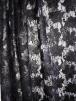 Lace Dress/Dance Sequin Net Fabric- Matt Black Floral SQ366 MTBK