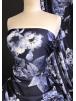 Scuba Stretchy Poly Lycra Fabric- Deep Sea Blooms SCB206 NYBL