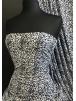 Printed Silk Touch 4 Way Stretch Fabric- Mini Leopard White/Black SQ378 WHTBK