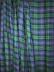 100% Cotton Soft Woven Non-Stretch Fabric- Hunting Stewart Green/Blue SQ389 GRNBL