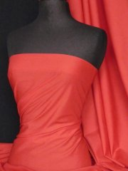 Poly Cotton Material- Bright Red Q460 BRTRD