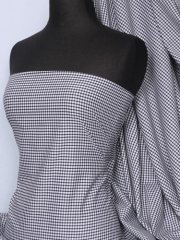 """Poly Cotton Material- Navy 1/8"""" Check Gingham Q563 NY"""