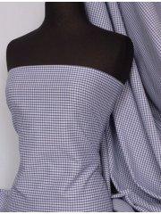 "Poly Cotton Material- Royal Blue 1/8"" Check Gingham Q563 RBL"
