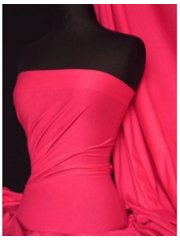 Single Jersey Knit 100% Light Cotton T-Shirt Fabric- Hot Pink Q1249 HTPN