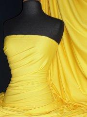 100% Cotton Interlock Knit Soft Jersey T-Shirt Fabric- Yellow Q60 YL