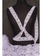 Pastel Purple Flower Design Lace Trimming