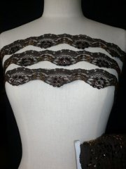 Brown Sequin Scalloped Trimming