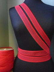 Elastic Lycra Net Trim- Red SY144 RD