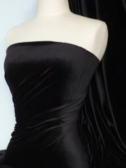 Steam Velvet Stretch Fabric- Black SV157 BK