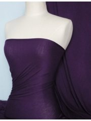 Viscose Cotton Stretch Lycra Fabric- Dark Purple Q300 DKPPL