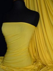 Viscose Cotton Stretch Lycra Fabric- Yellow Q300 YL