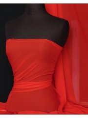 Chiffon Soft Touch Sheer Fabric Material- Red Q354 RD