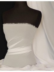 Chiffon Soft Touch Sheer Fabric Material- White Q354 WHT