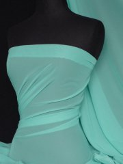 Chiffon Soft Touch Sheer Fabric Material- Mint Green Q354 MNT